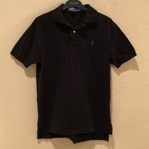 Ralph Lauren Polo Black Purple Collared Shirt